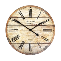 Rustic Cream Face Wall Clock - Unique Wall Hung Décor