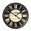 Wall Clock - Rustic - Black Face