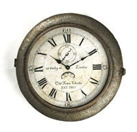 Vintage Inspired Wall Clock - Iron