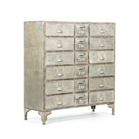 Apothecary Metal Cabinet - Oscar - Light Finish