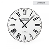 wall clock iron black white roman numerals French extra large