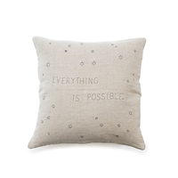 everything is possible natural linen pillow stars