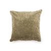 velvet pillow pom pom tan