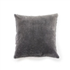 velvet pillow pom pom gray