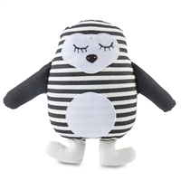 black white penguin stuffed animal stripes patches