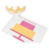 Happy Birthday Placemat Pad pink peony
