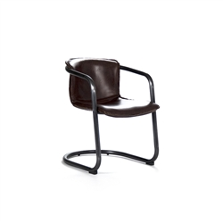 Luxury Designer Dining Chair - Key - Metal + Leather - Contemporary