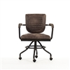 Swivel Arm Chair - Petra Desk - Leather + Iron