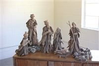 Driftwood Nativity Figures Set (6) - Unique Christmas & Holiday Décor