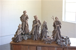 Set of 6 Driftwood Nativity Figures