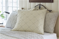 white black quilt pick stitch diamond pattern soft cotton pillow shams