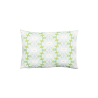 pillow watercolor colorful green blue patterned