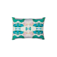 pillow watercolor colorful emerald patterned