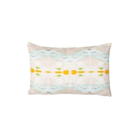pillow watercolor colorful orange patterned