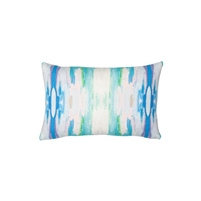 pillow watercolor colorful teal white patterned