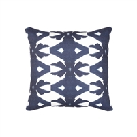 pillow watercolor colorful navy white patterned