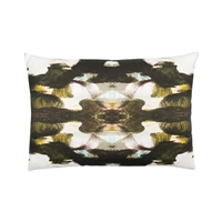 pillow watercolor colorful black white patterned