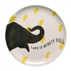 Set of 8 Smart Elephant Melamine Plates