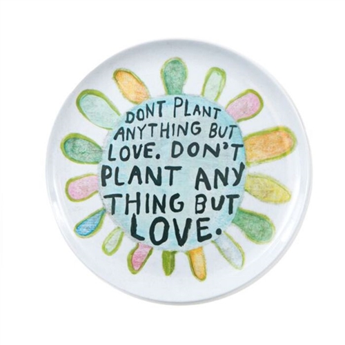 plate set don't plant anything but love