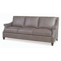 gray leather sofa nailhead trim contemporary
