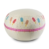 Child's Pouf - Popsicle - Recycled Canvas - Handpainted