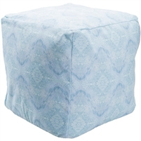 Indoor Outdoor pouf blue