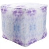Indoor Outdoor pouf purple blue