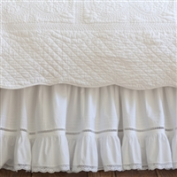 Crochet Lace Ruffle Prairie Bed Skirt