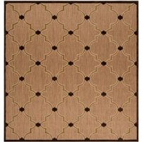 rug indoor/outdoor area rug tan dark brown khaki hi-low pile diamond