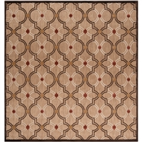 rug indoor/outdoor area rug tan khaki dark brown ivory wheat circles medium pile no pile