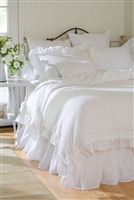 bedding light pink blush linen duvet twin queen king sham standard euro king boudoir pillow ruffle
