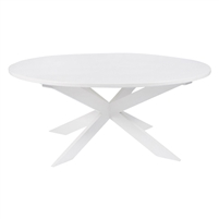 Luxury Designer Painted Wood Dining Table - Pearl Round Kitchen Table