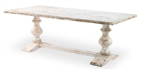 Lionisio Trestle Table Disrupted White
