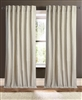 Creative Threads curtains panels drapery linen heavy weight embroidered eyelash fringe stripe ivory natural