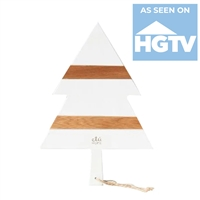tree serving board charcuterie tray white natural