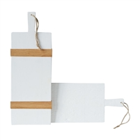 white natural rectangle charcuterie board wood