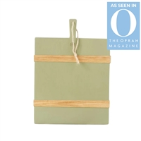 sage green rectangle charcuterie serving board natural