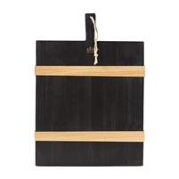 black rectangle charcuterie serving board natural