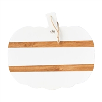 pumpkin serving board charcuterie tray natural white