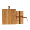 natural oak charcuterie board rectangle wood