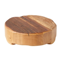 wood round trivet natural small