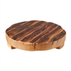 wood round trivet natural large