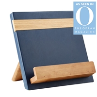 wood navy natural reclaimed pine cookbook holder