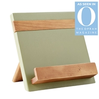 wood sage natural reclaimed pine cookbook holder
