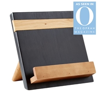 wood black natural reclaimed pine cookbook holder