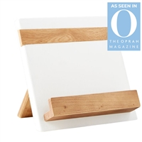 wood white natural reclaimed pine cookbook holder