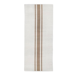 long rectangle area runner rug hand woven ivory natural stripe