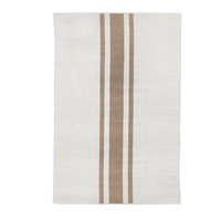 rectangle area rug hand woven ivory natural stripe