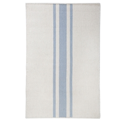 rectangle area rug hand woven ivory light blue stripe