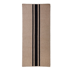 long rectangle area floor runner rug handwoven natural black stripes